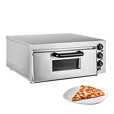 ALDKitchen Pizza Oven | Pizza Maker | Separately Controlled Thermostats | Stainless Steel | 110V (SINGLE)