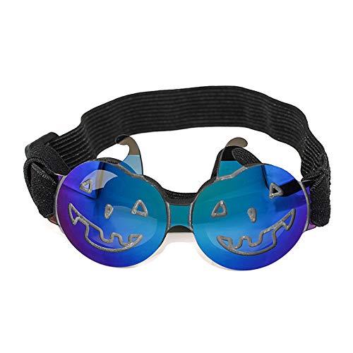 WGHERE UP Gafas de sol para mascotas de Halloween, divertidas, coloridas y de calabaza, artículos de moda para mascotas adecuados para perros y gatos pequeños y medianos
