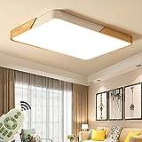 72W Lámpara de techo LED Regulable Plafon Techo Led Cuadrado Iluminación interior para Dormitorio Comedor Cocina Balcón Marco de Concha Blanco [Clase de eficiencia energética A++]
