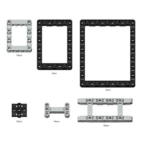Fujinfeng Technik Teile für Lego, 57 Teile Lochbalken Teile Anschluss Verbinder usw. Technic Teile Einzelteile