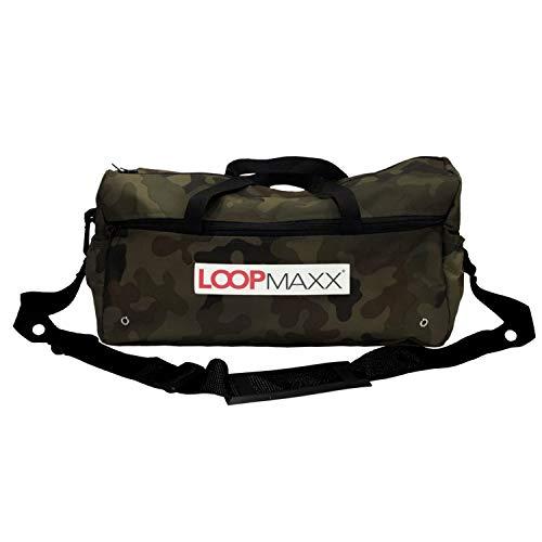 LOOPMAXX Basic Bag 2.0 | Sport- & Fitnesstasche | Perfekter Sportbegleiter | Mit Tragegurt (Flecktarn)