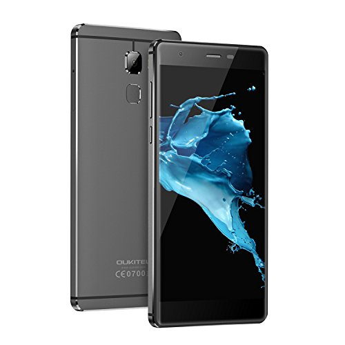 OUKITEL U13 - Smartphone 4G 5.5 pollici 3GB RAM 64GB ROM Octa-Core Mobile Phone per Android 6.0 (Grey)
