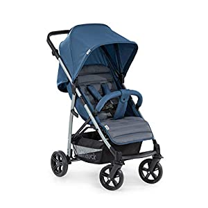 Hauck Rapid 4, 0 Months to 22 kg, Foldable, Compact, with one Hand, with Sleep Position, Height Adjustable Handle, Large Basket - denim/grey, Rapid 4, Up to 25 Kg   6