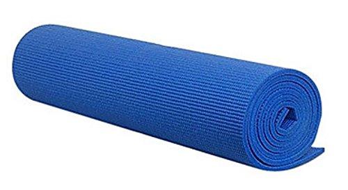 DOBO® Tappeto Tappetino Yoga Addominali Aerobica Palestra Fitness Ginnastica Pilates Antiscivolo (Blu)
