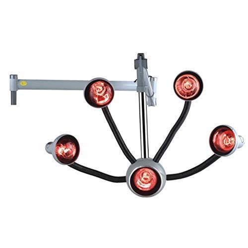 Haar Droger Kleur Processor 5 Hoofd Opknoping Infrarood Warmte Lamp Salon Styling Infra Rood Licht Barber Care Apparatuur met Flexibele Armen (Grijs)