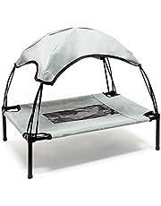 WilTec Portable Outdoor Relax Huisdier Bed Luifel Hond Bed L Grijs