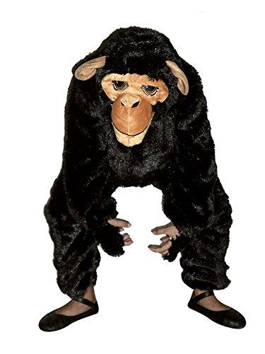 Ikumaal Affen-Kostüm, F84 Gr. 110-116, für Kinder, Affen-Kostüme AFFE für Fasching Karneval, Klein-Kind Karnevalskostüme, Kinder-Faschingskostüme, Geburtstags-Geschenk Weihnachts-Geschenk