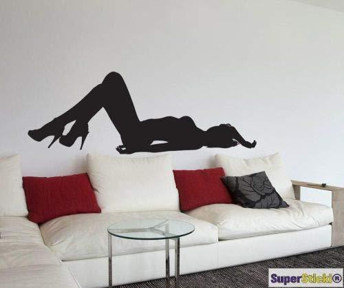 SUPERSTICKI Adhesivo decorativo para pared de aprox. 60 x 80 cm, diseño de zapato de tacón alto