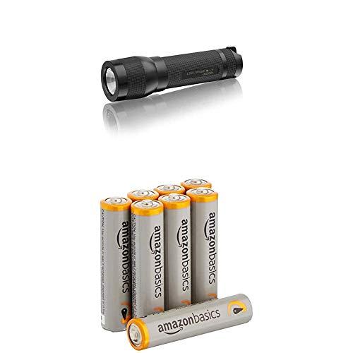 LED Lenser L7, LED Taschenlampe, 115 Lumen Lichtleistung, Art. Nr. 7058 / 7008 mit AmazonBasics Batterien