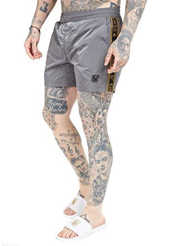 Sik Silk SS-15543 - Pantalones cortos para hombre (cinta de nailon), color gris
