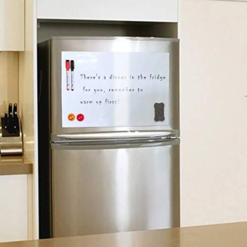 A3 Imán de refrigerador redondeado Blanco Pizarra pequeña Cartelera de oficina magnética para niños Pizarra blanda - blanco