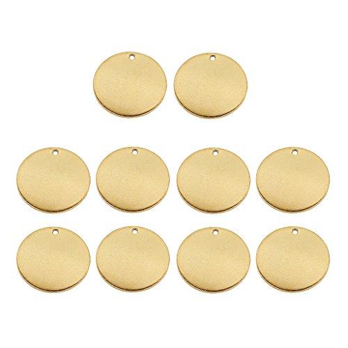 SDENSHI 10 Piezas de Metal en Blanco Estampado de Monedas Etiquetas Colgantes Encantos Fabricación de Joyas