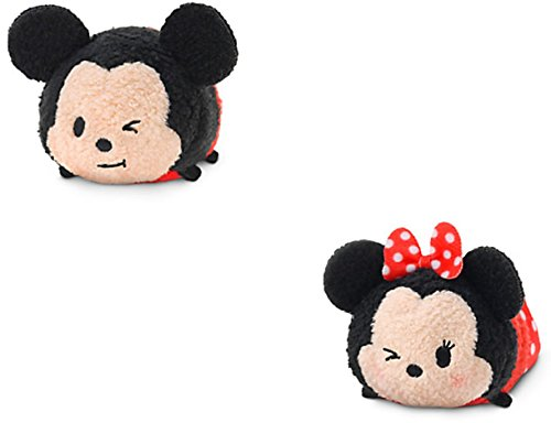 Disney Store Minnie Mouse Mickey Mouse Tsum Tsum Lot DE 3 1/2 Nouvelles Expressions Wink