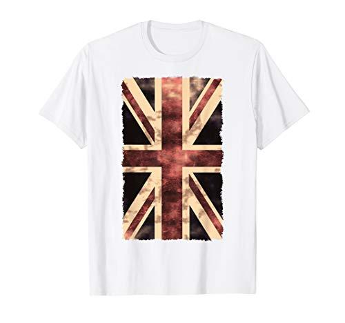 Union Jack T-Shirt UK, Großbritannien Fahne, Punk Rock Shirt T-Shirt