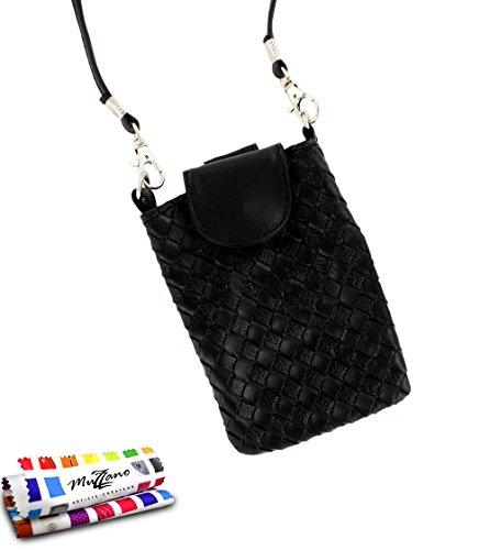 MUZZANO Tasche Alcatel OT/6030[CityPoche Premium] [schwarz] Eingabestift und Reinigungstuch angeboten–Der Schutz stoßfest ultimative, Elegante und nachhaltige für Ihr Alcatel OT/6030