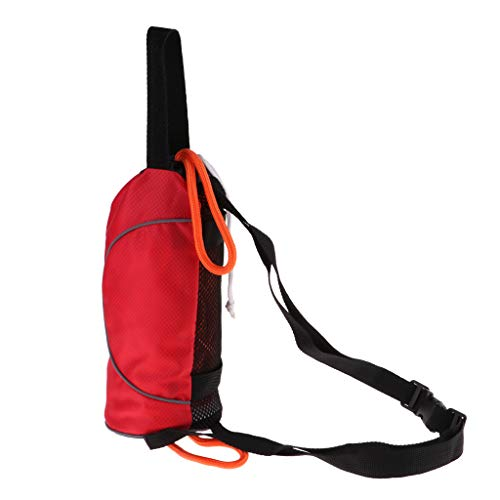 Toygogo Wurfsack Sicherheitsvorrichtung Kajak Und Bootsnotfallrettung Bunt Gefärbte Tasche - 21 Meter Nicht reflektierendes Seil rote Tasche