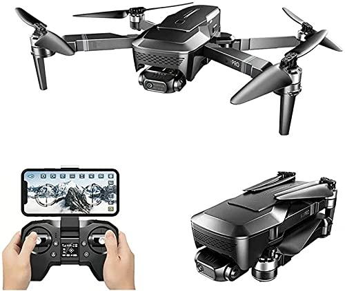 JJDSN 4K Drone HD Camera 2 Axis Gimbal WiFi FPV GPS 5G 1KM Distancia Drones Profesionales Quadcopter Plegable sin escobillas, 3 baterías