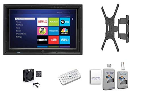 Purchase The TV Shield 30-32″ Anti-Glare Outdoor TV Enclosure, Combo Pack (Full Motion Mount, Fan, Moisture Control Gel Case and Cleaning Kit),(2nd Generation-2020 Model), Fits 30-32″ Television