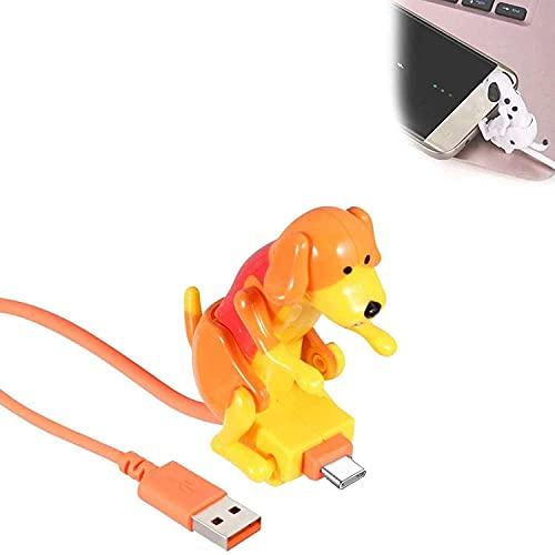 Cable De Carga para Perros Callejeros, Toy Dog Smartphone USB Cable Cargador, Mini Humping Spot Dog Toy,B