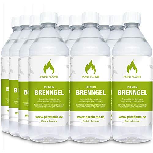 30 x 1L Brenngel für Gel Kamine & Gel Feuerstellen - Hergestellt aus Premium Bio-Ethanol 96,6% Vol. - 30 Liter in 1L Flaschen zum handlichen & sicheren Gebrauch - Made in Germany!!!