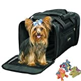 Sherpa Delta Airlines Deluxe Pet Dog Cat Carrier Airline Approved Medium Black to 16lbs. BONUS...