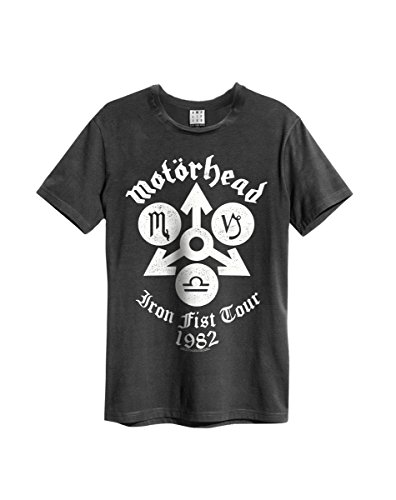 Amplified Motörhead Iron Fist Tour 82 - Camiseta para hombre (talla S-L), color gris