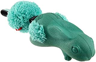 Gigwi Push to Mute Forestails Rabbit Toy for Dog, Green