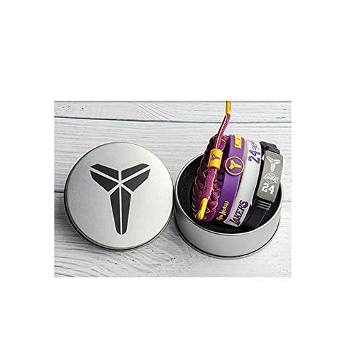 YZDMC Exquisito Lakers Pulsera de 4 Piezas Baloncesto Estrella de Baloncesto Pulsera Deportiva Pulsera Deportiva Tide 18215