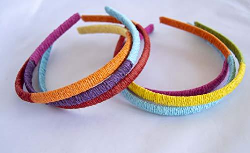 Pack de 6 bandeaux en fourrure de Corde de couleurs assorties. envoi gratuit 72h