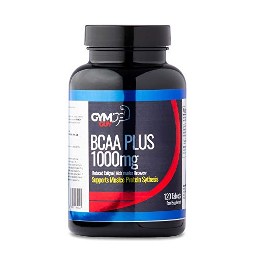 BCAA Plus 1000mg, 120 Tablets, 40 Servings, for Women and Men, Vegan/Vegetarian Friendly by GYM GUY