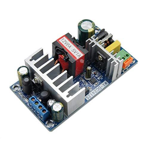MISHITI 12 V 8 A 5 V 1 A 100 W AC DC fuente de alimentación convertidor adaptador de voltaje regulado Transfo