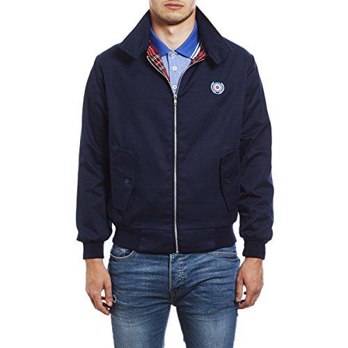 Herren Harrington Mod Jacke von 45REVS. Blau/Small