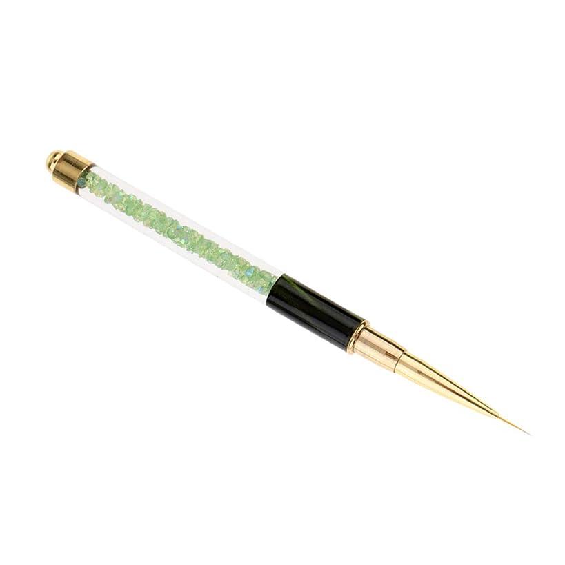 ショートに関して汗プロのネイルアートブラシUVジェルポリッシュデッサンライナー絵画デザインペン - 緑