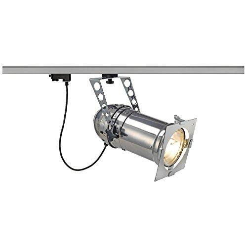 SLV 153352 SFL PAR56 TS 70 Lang HV R7S Spot, alu, 70 W, avec 3p.-adapter, en aluminium, argent,