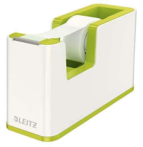 Leitz, 53641064, plakband-tafelloper, vaste stand, incl. lijmrollen, wit/metallic groen, WOW