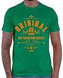 Hariz 1949 - Camiseta para hombre, diseño con texto en alemán 'Für Perfektion', 70 cumpleaños, serenos, incluye tarjeta de regalo verde M
