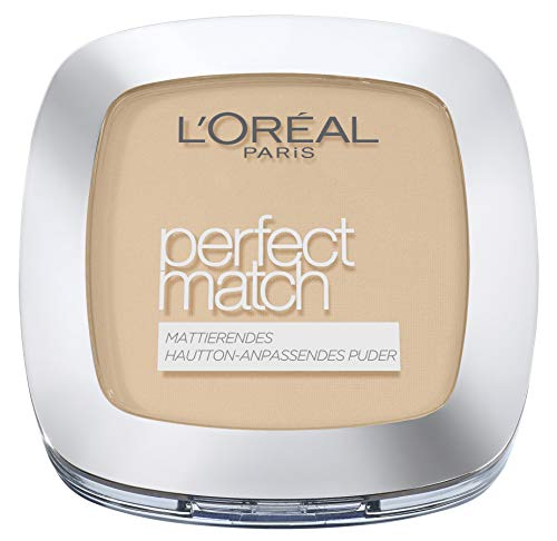 L'Oréal Paris Perfect Match Compact Puder N4 Golden Beige / Make-Up Puder mit individueller Deckkraft und LSF für jeden Hauttyp / 1 x 9 ml
