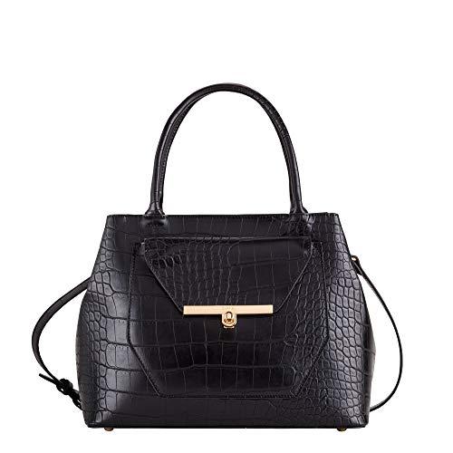 CARPISA® Handtasche, Hardcase - CARLOTTA, Schwarz One size