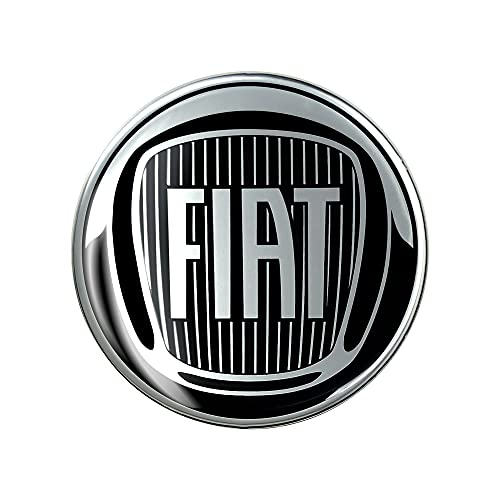 Fiat 21230 Adesivo 3D Ufficiale Logo Black 58 mm, Diam