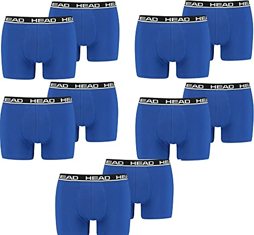 HEAD Herren Boxershorts Unterhosen Unterwäsche 10P (Blue/Black006, XXL)