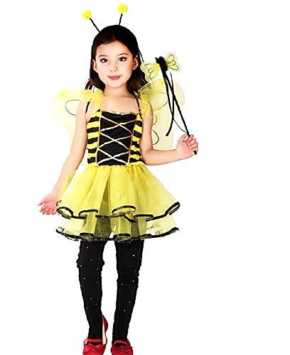 Disfraz de abeja - apina - disfraz - halloween - carnaval - niñas - talla m - 5-7 años - idea de regalo para cumpleaños