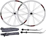 N&I Bicycle Wheel Set 26 inch Bicycle Wheels Double Walled Ultra Light Aluminum Alloy disc Brake Quick Release Mountain Bike Rear Wheel Front Wheel 7 8 9 10 Speed