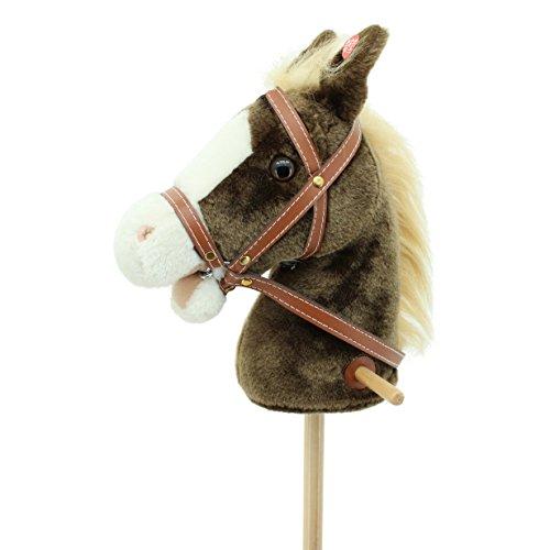 Sweety Toys 6410 Steckenpferd Miss Chocolate mit Beiger Mähne- Funktion Galoppgeräusch und Pferdegewieher