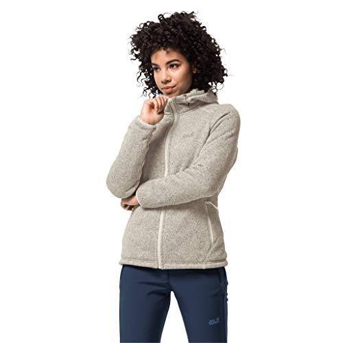 Jack Wolfskin Damen Damen Sweatshirt Lakeland Jacket Damen, white sand, M, 1706841