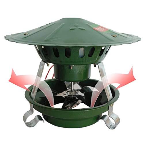WYJW Evacuador de Humos de Chimenea, Extractor de Humos eléctrico de Chimenea, Ventiladores inductores de Techo, Ventilador de Tiro inducido de Techo, Aspirador de Chimenea, 80 vatios 6