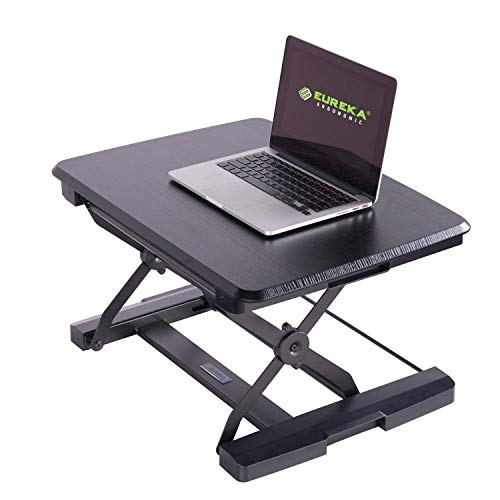 Standing Desk Converter,Eureka Ergonomic 26 inch Height Adjustable sit Stand Laptop Table Riser - Embossed Black