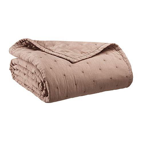 Vivaraise Jeté de lit Ming Sesame 240 x 260 cm