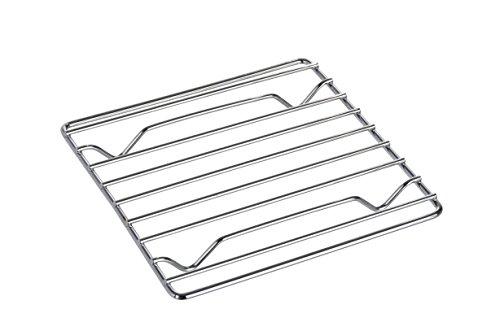 WENKO Topfuntersetzer Cali 18 cm, verchromtes Metall, 18 x 18 cm, Chrom