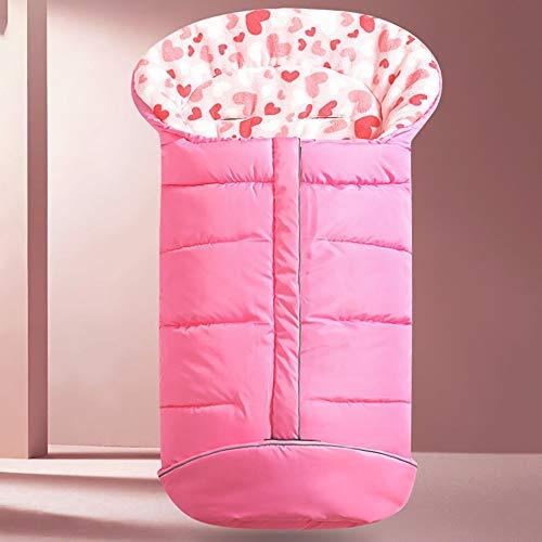 Kinderwagen-Schlafsack-Sicherheits-Kombination Aus Kinderwagen Und Schlafsack. Baby Geht Im Herbst Und Winter Aus, Um Das Doppelseitige Korallenvlies Warm Zu Halten,Pink
