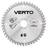 Disco de sierra Widia 185 x 30 mm, 48 dientes, grosor de disco 1,5 mm, grosor de dientes 2,3 mm, piezas de reducción: 30 x 16 mm, 30 x 20 mm, 30 x 25,4 mm VERTO 61H125